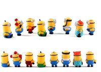 Wholesale 8pcs set Despicable Me Minion Character Display cm Figures Kid Toy Cake Toppers Decor Cartoon Movie PVC Action Figure toy With Retail Box