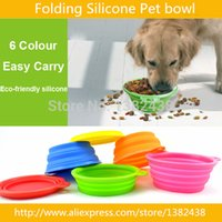 Wholesale factory sale Cheap price High quality food grade folding silicone pet dog bowl feeding watering supplies