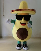 Wholesale SX0811 an avocado mascot costume with a big hat for adult to wear for sale for promotion