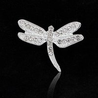 amber dragonfly - 2016 New Free postage Korean jewelry crystal brooch pin brooch upscale fashion women rhinestone dragonfly brooch wild clothing