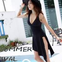 women dress suits - 2015 sexy plus size swimwear one piece swimsuit dress bathing suits swim wear swimming suit for women swimdress maillot de bain