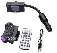 Wholesale Bluetooth Car Kit MP3 Player FM Transmitter Modulator Remote Control Talking in handsfree car dvd