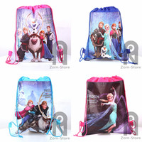 Wholesale Zorn store frozen Despicable Me How to Train Your Dragon drawstring bags Anna Elsa backpacks children s school bags shopping bags backpacks