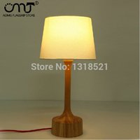bamboo lamp base - Fabric Shade And Base Wood Modern Restaurant Table Lights nature wood table lamp light with white cylinder shade order lt no t