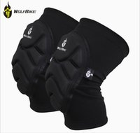 Wholesale WOLFBIKE Two Pieces Kneepad Skiing Goalkeeper Soccer Football Volleyball Extreme Sports knee pads Protect Cycling Knee Protector NEW ARRIVE