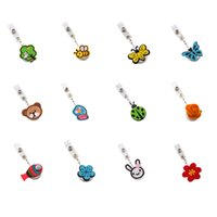 Wholesale Cute kawaii Cartoon Animal Retractable Cute Lovely Fashionable of ID IC Card Badge Reel Holder