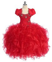 Cheap Ball Gowns For Little Girls Best Red girls Pageant Dresses