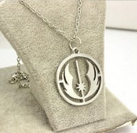 alloy returns - Star Wars Colgante Jewelry for men women Silver Mens Return Of The Jedi Hollow Collar chain Necklace Pendants Charm Necklaces Movie Jewelry