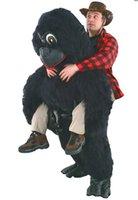 adult gorilla suit - Costume mascot back gorilla Costume Mascot Costume for adults christmas Halloween Outfit Fancy Dress Suit
