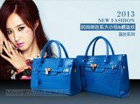 Wholesale 2015 luxury brand new arrive women lady tote handbag designer lock fashion shoulder bag Women s Handbag PU Leather bag color choose blue