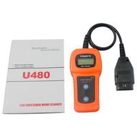 Wholesale 10pcs Car Diagnostic Scanner Tool U480 OBD2 OBDII Car Truck AUTO Diagnostic Engine Scanner Fault Code Reader