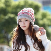 Beanie/Skull Cap Yarn Dyed His-and-Hers very sharp pricing 2015 Fashion New Winter Warm Soft Cold weather accessories Crochet Knit Hats & Caps For Women
