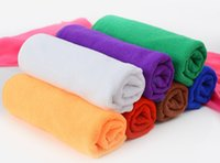 bathroom hand towel - 20PCS High Quality Microfiber Cleaning Towel Car Washing Nano Cloth Dishcloth Bathroom Clean Towels Rectangle x70cm