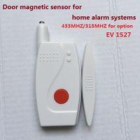 <b>Sensor</b> magnético puerta / ventana, contacto de puerta 433 / 315MHZ EV1527 para sistemas de alarma de seguridad en casa con <b>sensor</b> de imán de puerta de batería de larga duración