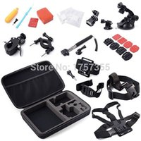Wholesale Gopro Accessories Set in1 Storage Bag Chest Strap Head floaty Monopod Tripod for Gopro Hero SJ Camera New