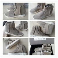 western boots - Authentic Kanye West Yeezy Boost Grey Men s Fashion Sneakers Boot B35309 Size