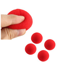 Wholesale 4pcs Excellent quality New Fashion Close Up Magic Sponge Ball Brand Street Classical Comedy Trick Soft Red Sponge Ball