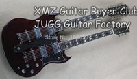 double neck guitar - Double Neck SG stings Custom Dark Cherry Red Electric Guitar China Guitar Factory
