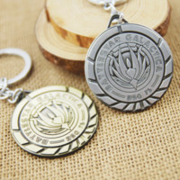 battlestar movies - Factory Direct Sales High Quality Statement Pendant keychain Battlestar Galactica Phoenix Key Chains