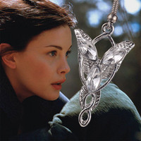 best vintage jewelry - The Lord of the Rings Hobbit Arwen Evenstar earring Pendant vintage the Elves princess earrings Jewelry crystal silver for women best Gifts