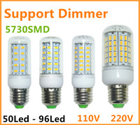 Wholesale 5pcs Dimmable SMD Lampada LED corn Lamp E14 E27 B22 GU10 G9 V V Bombillas LED Bulb Lamparas LEDS