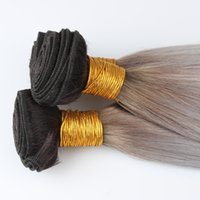 Wholesale Ombre Hair Extensions B Silver Grey Human Hair Weave Brazilian Vigin Hair Straight Sunny Queen Hair Products