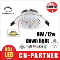 Wholesale x20pcs Led Dimmable Recessed downlight W W Led Bulb V with led driver have complete EMC LVD CE ROHS certification