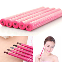 Wholesale Makeup Eyebrow Enhancers Liner Pencils Waterproof Brown Pencil Automatic Rotation Square Free Cut Delicate No Blooming Colors