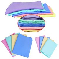 Wholesale 5PCS Colorful Magic Car Washing Wipe Towel Cloth Absorber Synthetic Chamois Leather