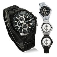 Wholesale S5Q Fashion Stainless Steel Luxury Sport Analog Quartz Clock Mens Wrist Watch AAACST