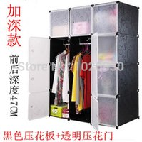 solid wood wardrobes - dhl fedex resin Colth Wardrobe Colthes Hanger Simple Mobile Modern DIY Single Furniture boxs cm deep cm