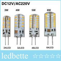 ac dc body - 20Pcs SMD G4 W W W W LED Crystal lamp light DC V AC V Silicone Body LED Bulb Chandelier LED LED LED LEDs