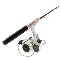 fishing rods - Mini Portable M Aluminum Alloy Telescopic Fishing Rod Pole Reel Mini Pocket Pen Type with Nylon Line Set