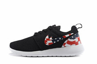 america cheap - 2016 New Cheap Mens Womens Roshe Run America flag shoes sneakers Fashion Lightweight Breathable Mesh Running Walking sports outdoor shoes