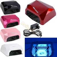 Wholesale ON Sale New W UV Nail Lamp Cures for Gel Acrylic Curing Led Light Timer Dryer Spa Kit SV002609