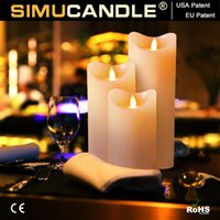 Wholesale flameless LED candle with moving flame wick