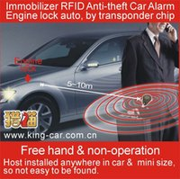 Cheap Immobilizer RFID Anti-theft Car Alarm (Keyless Entry ) engine lock automatically by transponder chip induction technology