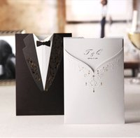 Wholesale 137mm mm Bride and Groom Can print Photos Wedding invitations Wedding wedding invitation card individuality creative invitations
