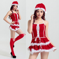 adult service - 1204 new sexy christmas costume adult female Cosplay ball party uniform temptation DS performance service