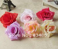 Wholesale 100pcs Bag cm Diameter Silk Flower Head Big Rose Flowers Artificial Flowers Ball Head Brooch Wedding Decoration Flower