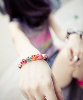 Cheap Best price Multicolor Turquoise Skull Strand Bracelets 24pcsA1A