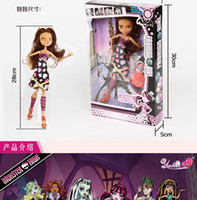 barbie dolls - New Brand Monster High Barbie Dolls For Kids Fashion Spaceman Toys Mix Styles Hot Sale Cartoon Toy Girls Nice Gifts Soft Plastic