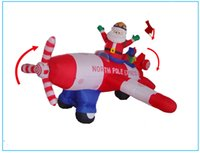 inflatable christmas - Christmas Gifts Christmas Animated Floating Santa Helicopter Airblown Inflatable Christmas Outdoor Decor Santa Helicopter