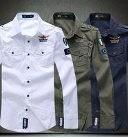 air force dress shirt - Air force men long sleeve shirt casual man dress shirts color M L XL XXL XL Hot sale