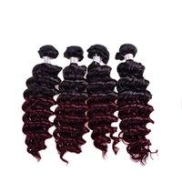 dhagte - hot selling hair in dhagte human hair weft ombre two tone hair b J inch bundles deep wave wet and wavy virgin brazilian hair