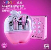 Wholesale Apple Shape manicure set nail care set all round nail scissors manicure tool manicure kit set Nail Art Salon Kits