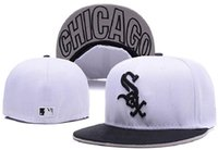 hat box - New Arrival MLB White Sox Embroidery Letter Fitted Hat Men Women Structured Fit Classic Sport Baseball Cap With Box