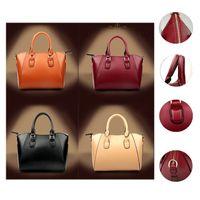 real leather handbags - Fashion Women Lady Real Genuine Leather Handbag Shoulder Bag Large Tote Satchel