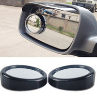 Wholesale 1 Piece Car mirror Wide Angle Round Convex Blind Spot mirror for parking Rear view mirror Rain Shade without retail box A05 HSJ
