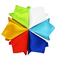 Wholesale 16pcs Solid Polyester Noble Man s Satin Pocket Square Handkerchief Fashion Wedding Party Prom Ornaments Hot Sale
